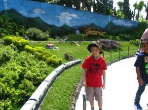 Taman Miniatur Kereta Api and look at his face!