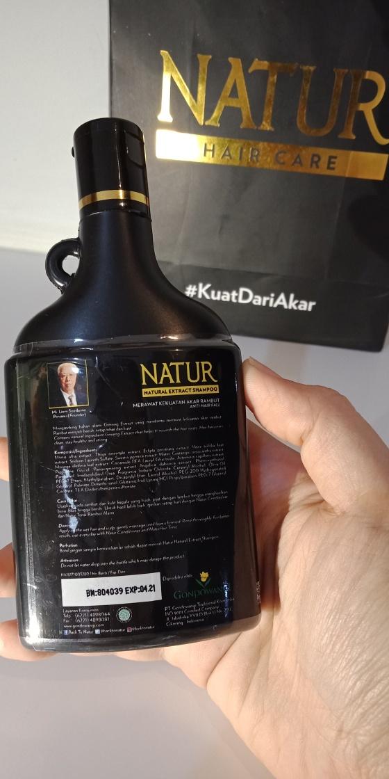 Bagian Belakang Natur Ginseng Extract
