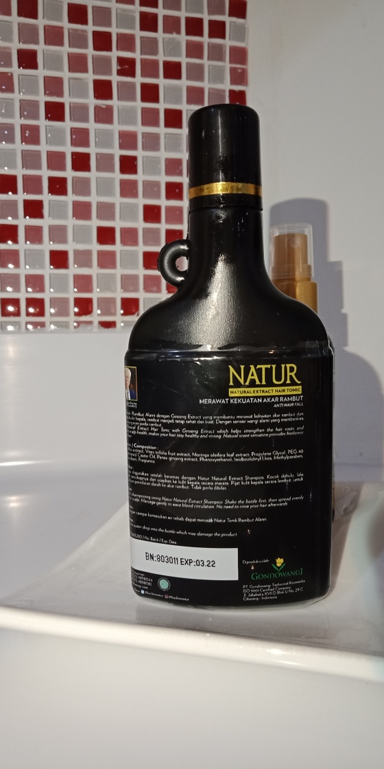 komposisi Natur Hair Tonic